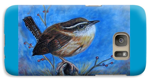 Galaxy Case featuring the painting Carolina Wren by Patricia L Davidson