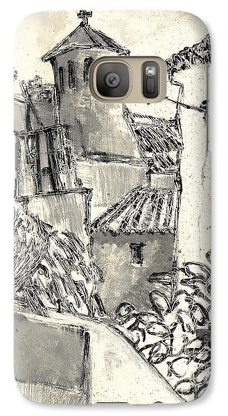 Galaxy Case featuring the painting Caromb Village In Provence by Martin Stankewitz