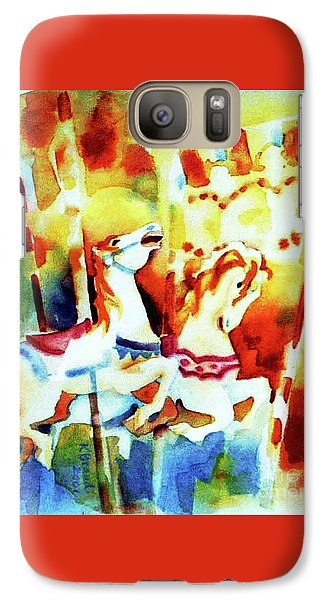Galaxy Case featuring the painting Carousal 4 by Kathy Braud