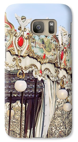 Galaxy Case featuring the photograph Carousel At The Tuileries - Paris, France by Melanie Alexandra Price