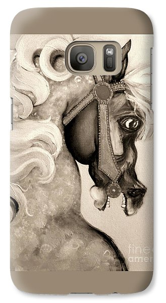 Galaxy Case featuring the mixed media Carousel by Carolyn Weltman