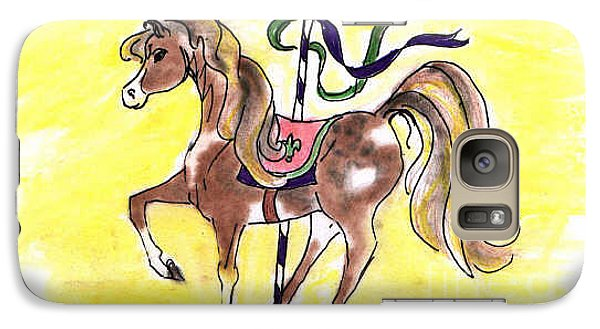Galaxy Case featuring the drawing Carousel Horse by Vonda Lawson-Rosa