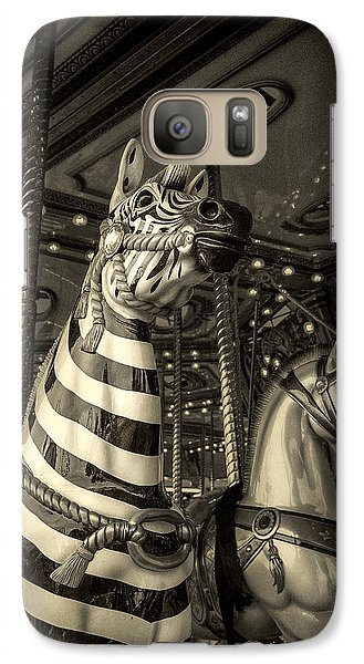 Galaxy Case featuring the photograph Carousel Zebra by Caitlyn Grasso