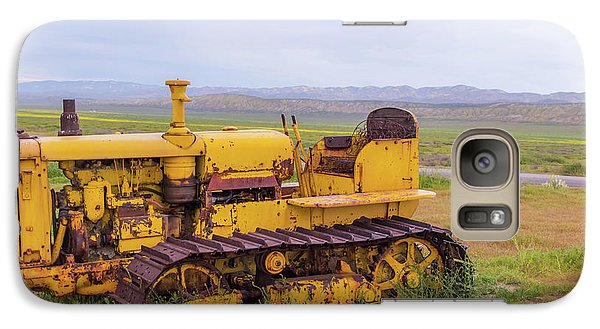 Galaxy Case featuring the photograph Carrizo Plain Bulldozer by Marc Crumpler