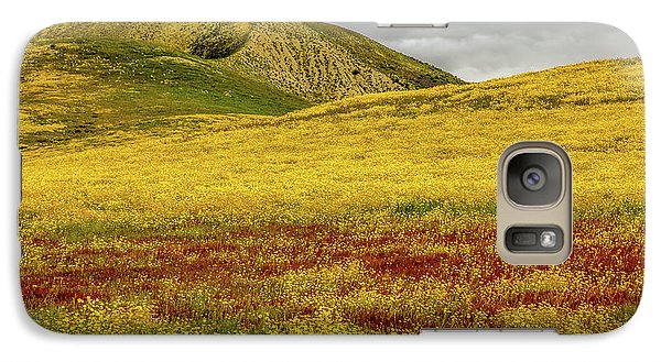 Galaxy Case featuring the photograph Carrizo  Plain Super Bloom 2017 by Peter Tellone