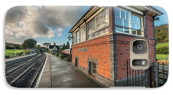 Galaxy Case featuring the photograph Carrog Signal Box by Adrian Evans