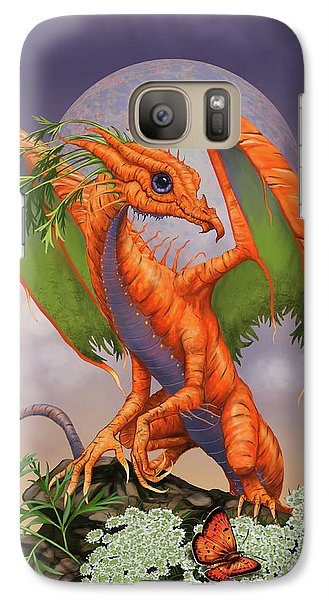 Galaxy Case featuring the digital art Carrot Dragon by Stanley Morrison