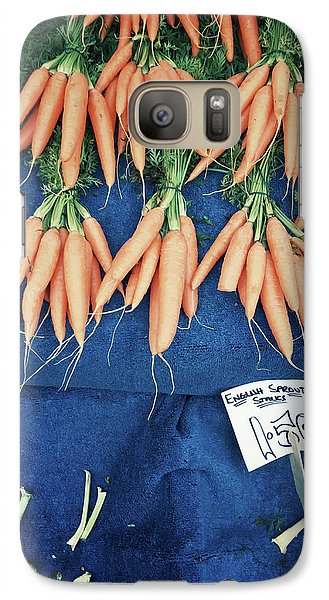 Carrots At The Market Galaxy S7 Case by Tom Gowanlock