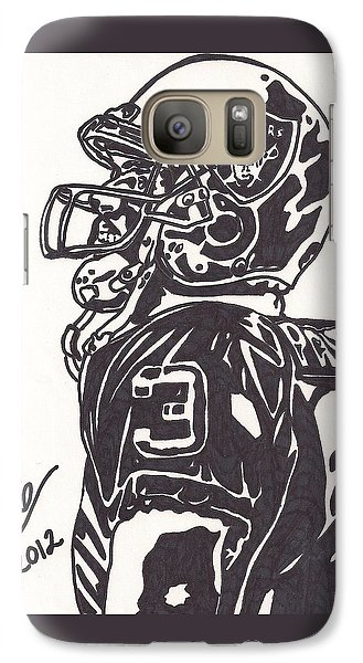 Galaxy Case featuring the drawing Carson Palmer 1 by Jeremiah Colley