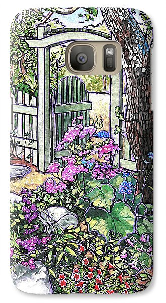 Galaxy Case featuring the painting Carter Garden by Nadi Spencer