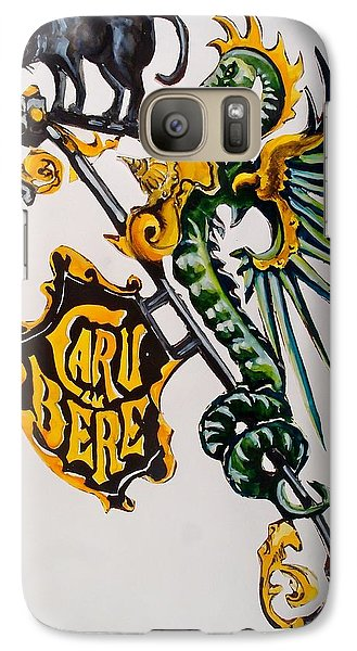 Caru Cu Bere - Antique Shop Sign Galaxy S7 Case