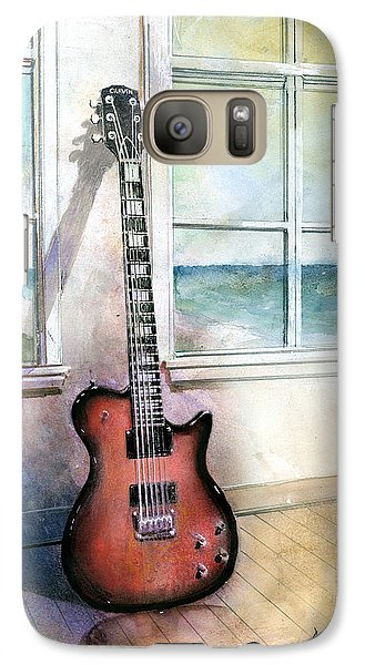 Galaxy Case featuring the painting Carvin Electric Guitar by Andrew King