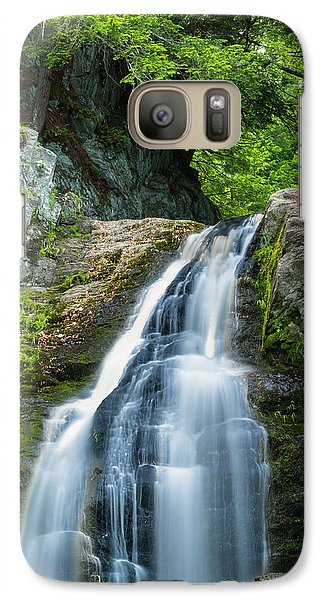 Galaxy Case featuring the photograph Cascade Falls In South Portland In Maine by Ranjay Mitra