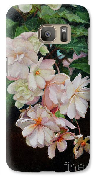 Galaxy Case featuring the painting Cascade Of Begonias  by Margit Sampogna
