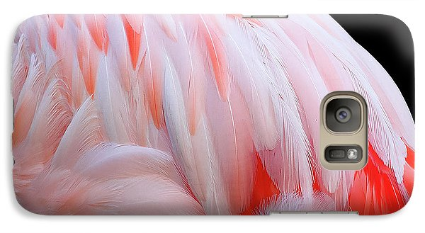 Galaxy Case featuring the photograph Cascading Feathers by Elvira Butler