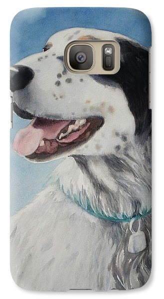 Galaxy Case featuring the painting Casey by Marilyn Jacobson
