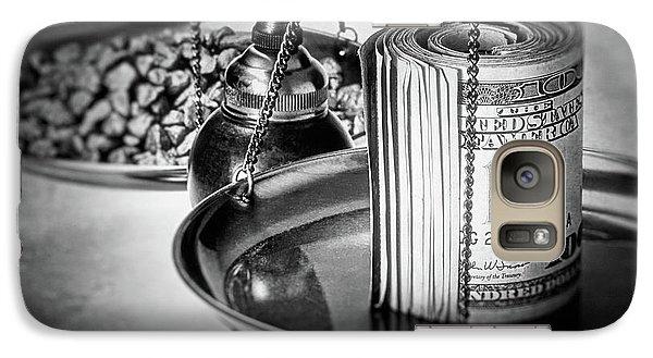 Cash Versus Gold Galaxy Case by Tom Mc Nemar
