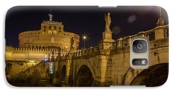 Galaxy Case featuring the photograph Castel Sant'angelo by Ed Cilley