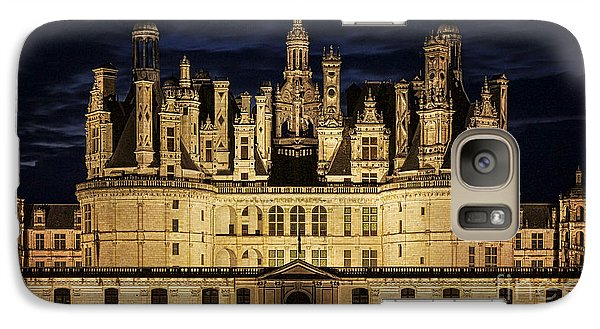 Galaxy Case featuring the photograph Castle Chambord Illuminated by Heiko Koehrer-Wagner
