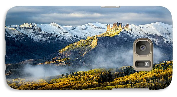 Galaxy Case featuring the photograph Castle In The Clouds by Phyllis Peterson