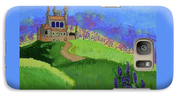 Galaxy Case featuring the painting Castle In The Sky by Johanne Peale