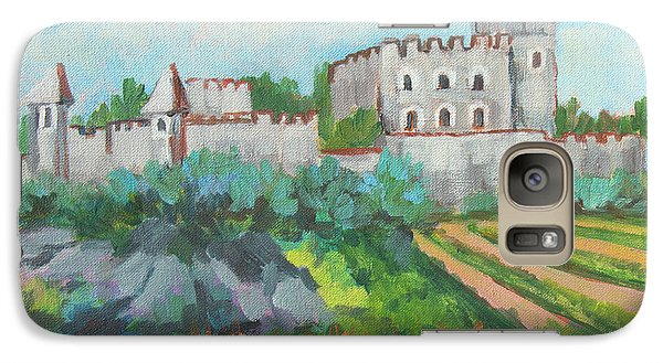 Galaxy Case featuring the painting Castle On The Upper Rhine River by Diane McClary