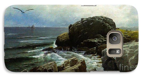 Galaxy Case featuring the digital art Castle Rock - Marblehead by Lianne Schneider
