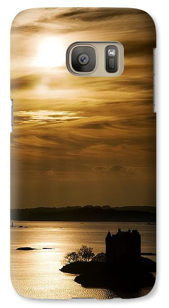 Galaxy Case featuring the photograph Castle Stalker At Sunset, Loch Laich by John Short