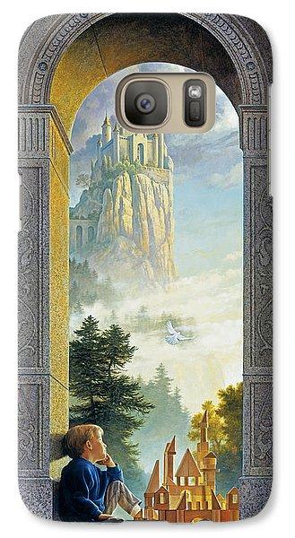 Castles In The Sky Galaxy Case by Greg Olsen