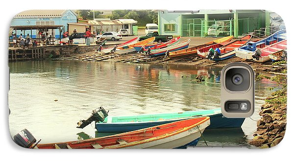 Galaxy Case featuring the photograph Castries Harbor Waterfront by Roupen  Baker
