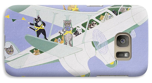 Cat Air Show Galaxy Case by Pat Scott