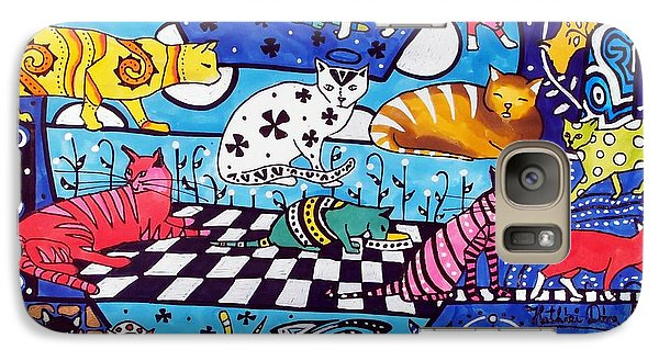 Cat Cocktail - Cat Art By Dora Hathazi Mendes Galaxy S7 Case