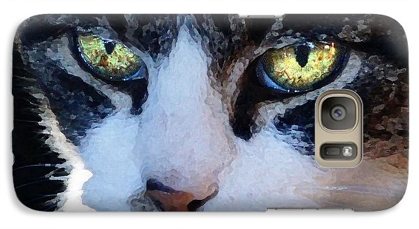 Galaxy Case featuring the digital art Cat Eyes by Jana Russon