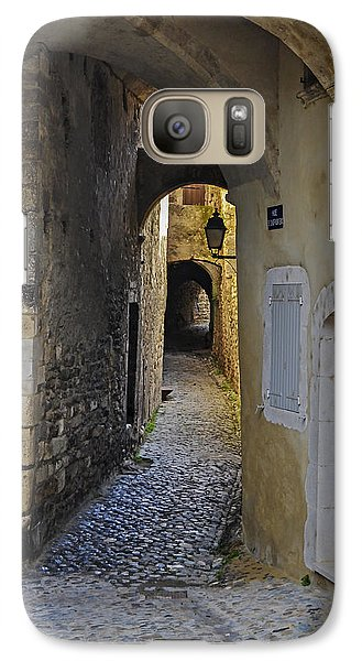 Galaxy Case featuring the photograph Cat On A Quiet Street In Viviers by Allen Sheffield