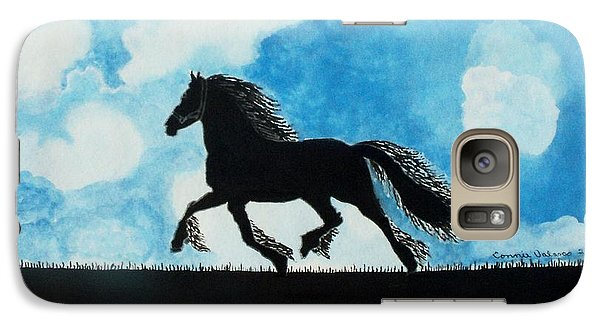 Galaxy Case featuring the painting Catching The Wind by Connie Valasco