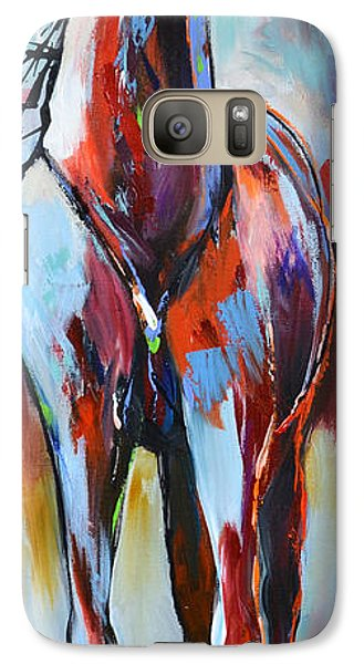 Galaxy Case featuring the painting Catching Wind by Cher Devereaux