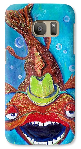 Galaxy Case featuring the painting Catfish Clyde by Vickie Scarlett-Fisher
