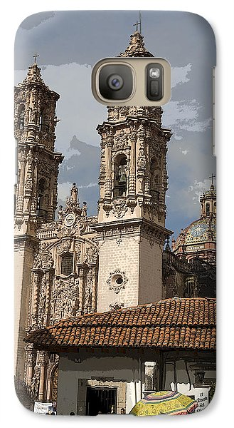Galaxy Case featuring the photograph Cathedral In Taxco Mexico by Carl Purcell