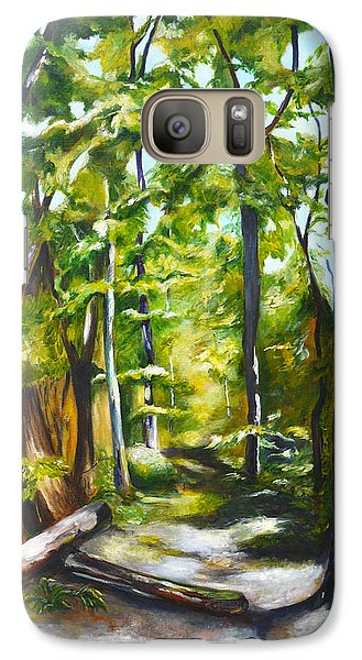 Galaxy Case featuring the painting Cathedral Of Trees by Nadine Dennis
