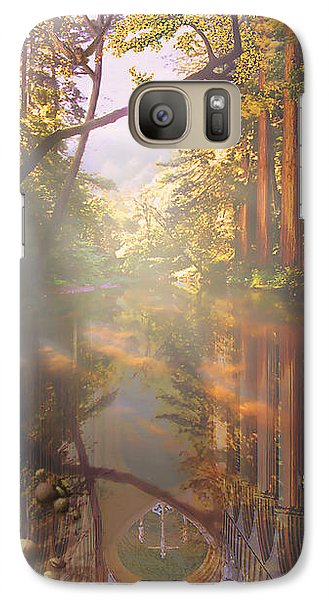 Galaxy Case featuring the painting Cathedral Redwoods by Robby Donaghey
