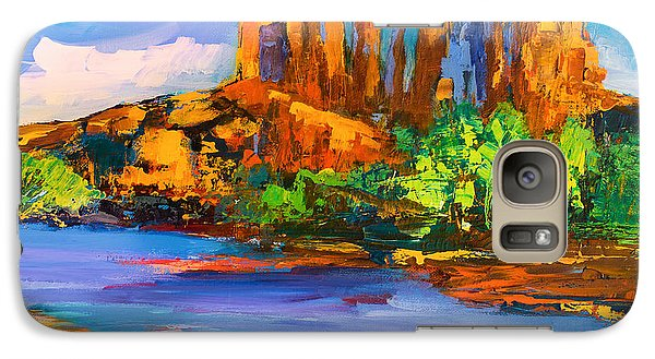 Galaxy Case featuring the painting Cathedral Rock Afternoon by Elise Palmigiani