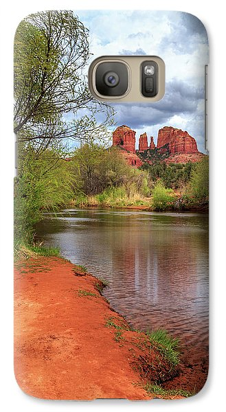 Galaxy Case featuring the photograph Cathedral Rock From Oak Creek by James Eddy