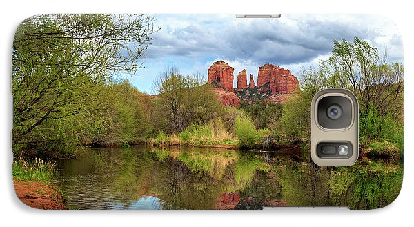 Galaxy Case featuring the photograph Cathedral Rock Reflection by James Eddy