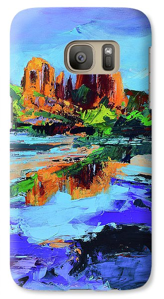 Galaxy Case featuring the painting Cathedral Rock - Sedona by Elise Palmigiani