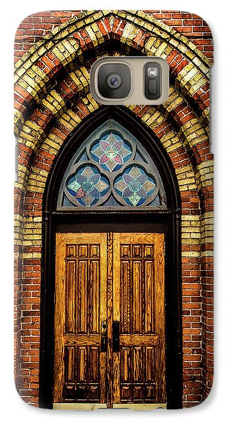 Galaxy Case featuring the photograph Cathedral Tower Door by Onyonet  Photo Studios