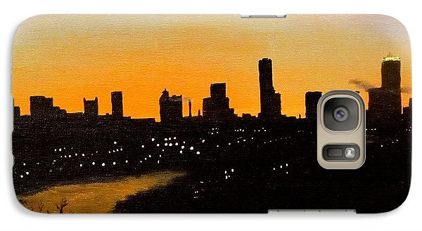 Galaxy Case featuring the painting Catherine's Sunrise by Jack Skinner