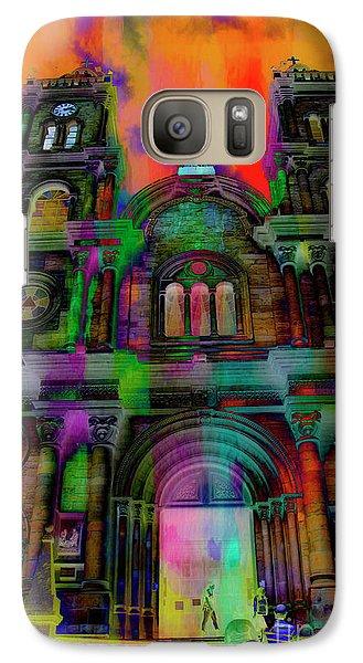 Galaxy Case featuring the photograph Catholic Church At Chordeleg, Ecuador by Al Bourassa