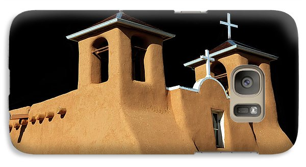 Galaxy Case featuring the photograph St Francis De Assi Church  New Mexico by Bob Christopher