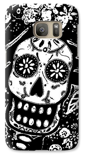 Galaxy Case featuring the painting Catrina Dia De Los Muertos by Pristine Cartera Turkus