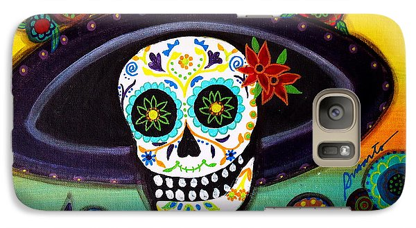 Galaxy Case featuring the painting Catrina by Pristine Cartera Turkus